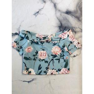 Miss Selfridge Flower Crop Top